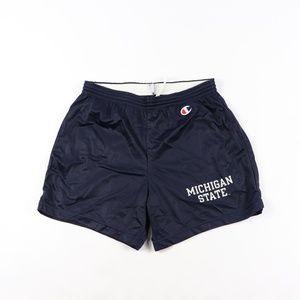 90s Champion Mens Medium Michigan State Shorts